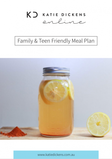 Family & Teen Friendly Meal Plan - Cover