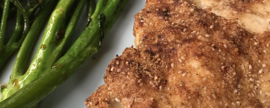 Healthy crumbed chicken