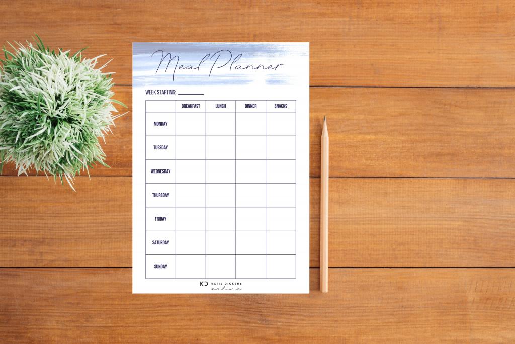 Weekly Planner Flatlay